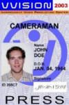 camera man id, press id, undercover id, novelty id freelance reportedr id, new identity