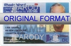 Rhode Island Fake ID Template Large