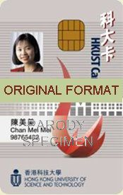 novelty id, novelty id card, driver license novelty HONG KONG UNIVERSITY ID  card, new identity software design custom