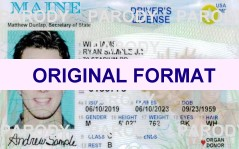 fake id maine scannable with real hologram