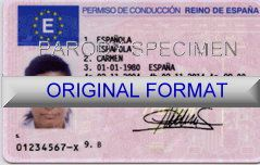 SPAIN DRIVER LICENSE ORIGINAL FORMAT, DESIGN SPECIFICATIONS, NOVELTY SECURITY CARD PROFILES, IDENTITY, NEW SOFTWARE ID SOFTWARE